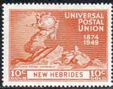 New Hebrides British 1949 Universal Postal Union SG 64 Fine Mint