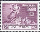 New Hebrides British 1949 Universal Postal Union SG 67 Fine Mint