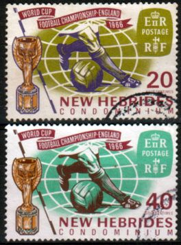 New Hebrides British 1966 Football World Cup Set Fine Used
