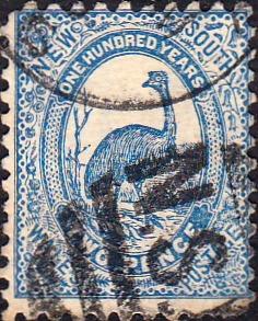 New South Wales 1888 SG 254 Emu Fine Used