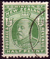 Stamps New Zealand 1909 SG 387 King Edward VII Head Fine Used