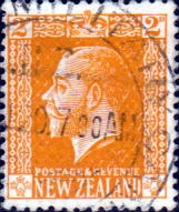 New Zealand 1915 SG 418 George V Head Fine Used