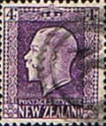 Stamps Stamp New Zealand 1915 SG 422 George V Head Fine Used SG 422e Scott 151