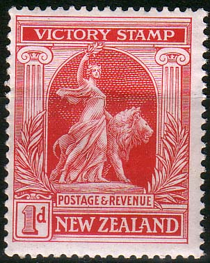 New Zealand 1920 Peace Victory SG 454 Fine Mint