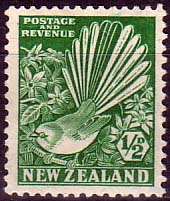 Stamps Stamp New Zealand 1935 SG 556 Collared Grey Fantail Bird Fine Mint Scott 185