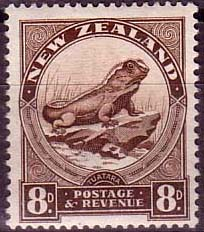New Zealand 1936 SG 586b Tuatara Lizard Fine Mint