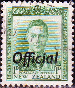 New Zealand 1938 King George VI Official SG O137 Fine Used