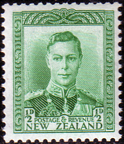 Stamps of New Zealand 1938 King George VI SG 603 Fine Mint Scott 227