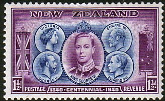 Postage Stamps New Zealand 1940 King George VI SG 615 Fine Mint  SG 615 Scott 231