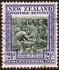 Stamps of New Zealand 1940 King George VI SG 617 Fine Used Scott 233