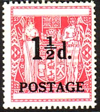 Stamps of New Zealand 1950 F6 Overprint SG 700 Fine Mint Scott 273