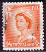 New Zealand 1953 Queen Elizabeth SG 724 Fine Used