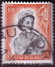 New Zealand 1953 Queen Elizabeth SG 733b Fine Used