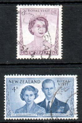 New Zealand 1953 Royal Visit Stamps