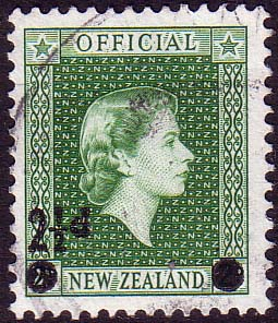 New Zealand 1961 Queen Elizabeth Official Stamps