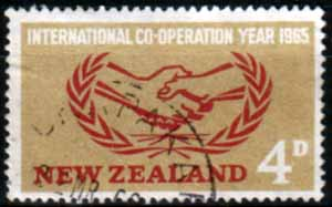 New Zealand 1965 International Co-operation Year Fine Used