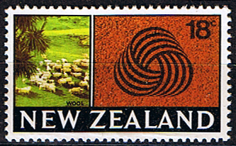 New Zealand 1967 SG 875 Sheep and the Wool Mark Fine Mint