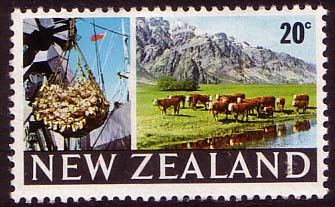 Stamps of New Zealand 1967 SG 876 Beef Cattle Fine Mint SG 876 Scott 419