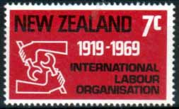 New Zealand 1969 SG 893 Labour Fine Mint