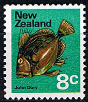Stamps of New Zealand 1970 SG 924 John Dory Fish Fine Mint Scott 448