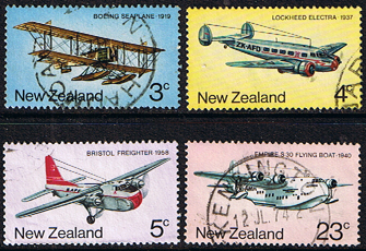 New Zealand 1974 History of Airmail Transport Set Fine Used