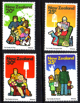 New Zealand 1981 Family Life Set Fine Mint