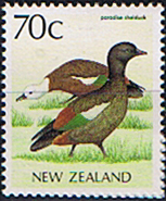 Stamps of New Zealand 1988 Paradise Shelduck Fine Mint SG 1486 Scott 832