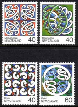 New Zealand 1988 Rafter Painting Set Fine Mint