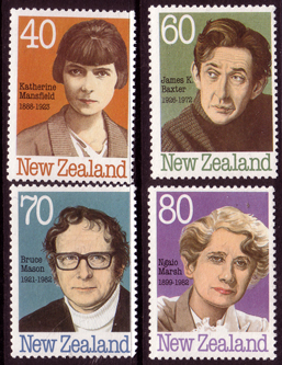 New Zealand 1989 Authors and Writers Set Fine Mint