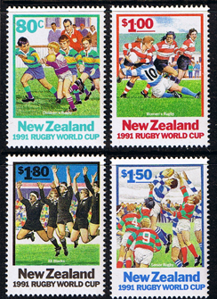 New Zealand 1991 Rugby World Cup Set Fine Mint