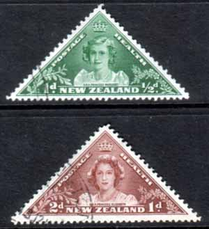 New Zealand Health 1943 Princess Elizabeth Set Fine Used