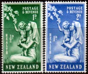 New Zealand Health Stamps 1949 Nurse