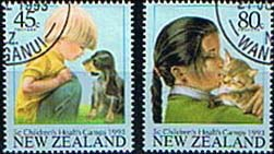 New Zealand Health 1993 Childrens Pets Set Fine Used