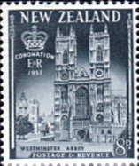 New Zealand Queen Elizabeth II 1953 Coronation Stamps