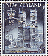 New Zealand Stamps Queen Elizabeth II 1953 Coronation