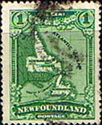 Newfoundland 1928 SG 164 Map Fine Used