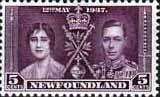Newfoundland 1937 SG 256 King George VI Coronation Fine Mint