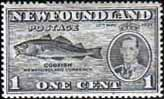 Newfoundland 1937 SG 257 King George VI Coronation Codfish Fine Mint