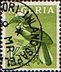 Nigeria 1961 SG  96 Yellow Hornbill Bird Fine Used
