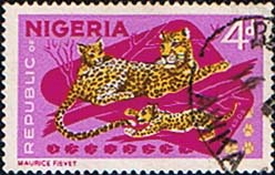 Nigeria Stamps 1965 SG 177a Leopards Fine Used