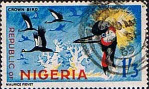 Nigeria 1965 SG 181 Crowned Crane Bird Fine Used