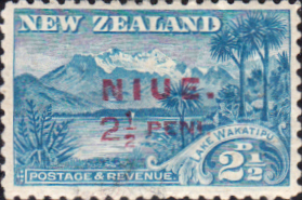 Stamps Niue 1902 New Zealand Overprint Fine Mint SG 2 Scott 8