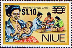 Niue Stamps 1977 Food Gathering Surcharged SG 232 Scott 211
