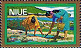 Niue 1979 Food Gathering Gold Boarder Airmail SG 270 Fine Mint