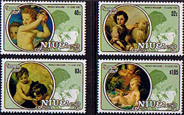 Niue 1982 ROYAL BABY Prince William Set Christmas Fine Mint