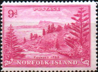 Norfolk Island 1947 Ball Bay SG 10 Fine Mint