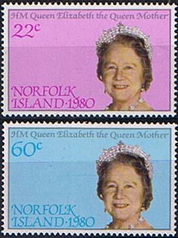 Stamps Norfolk Islands 1980 Mothers 80th Birthday Set Fine Mint