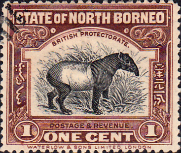 Stamp Stamps North Borneo 1909 Black Centre Design Fine Used SG 158 Scott 136