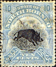Stamp Stamps North Borneo 1909 Black Centre Design Fine Used SG 172 Scott 144b