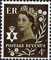 Stamp Stamps Northern Ireland 1968 Queen Elizabeth SG Scott 8 Fine Mint